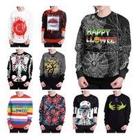 Men Women Couples Holloween Hoodies Funny Printing Cosplay O...