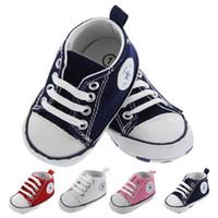 4 Renk Yeni Tuval Bebek Spor Ayakkabı Yenidoğan Erkek Kız İlk Yürüyüş Kurucular Bebek Yürüyor Yumuşak Alt-Kaymaz Prewalker Sneakers 0-18m
