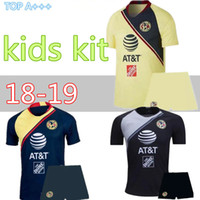 91cea21b9d0 Wholesale club america uniforms for sale - 2018 kids Mexico Club America  Soccer Jersey kit C