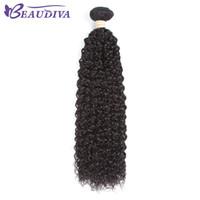 """Cheveux humains Kinky Culry bon marché péruvien 8 """"-24"""" Afro Kinky Curly Weave Extensions de cheveux péruviens 3 ou 4 faisceaux peuvent acheter"""