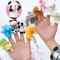 Новая земля животных пальцев и земельный стиль животных палец марионеток детские руки пальца игрушка детская история рассказывает игрушку T6i008