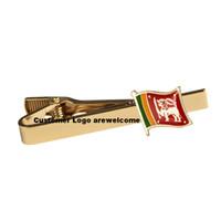 스리랑카 국기 클럭 타이 클립