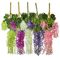 12pcs 105cm Artificial Silk Wisteria Hanging Plants For Wedd...