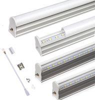 T5 Integrated LED Tube 2ft 3FT 10W 14W LED luci AC85-265V SMD 2835 LED fluorescente tubi a luce trasparente copertura lattea