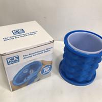 Silikonform Sparen Eiswürfelbereiter Genie Eiskübel Einfrieren Formen Hersteller Cuber Maker Form Reise Küchenhelfer Party Supply mit Kleinkasten