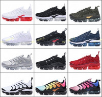 2018 NEW men women Vapormax TN Plus Olive In Metallic White ...