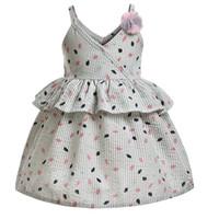 Kinder Mädchen Sling Blätter Gedruckt Rüschen Ballkleid Prinzessin Kleid Für Baby Kleinkinder Kinder 1 T-6 T Blume Mode Kleid