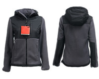 HIGH Quality Invierno Mujeres Fleece Hoodies Chaquetas Camping Windproof Ski Warm Down Coat Casual Casual con capucha SoftShell Sportswear Negro S-XXL