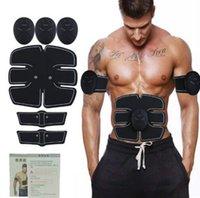 Électrique EMS Stimulateur Abdominale Entraîneur Muscle Toner Abdominal Bras Muscles Abs Body Pad Sculptant Exercice Machine Smart Fitness Massager