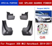 4pcs / set voiture Bavettes garde-boue BOUE Garde-boue Fender pour Peugeot 308 Mk2 Hatchback 2014 2015 2016 2017