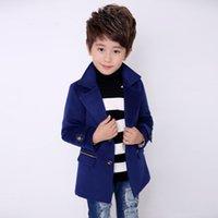 Ullrock för pojkar ull ytterkläder pojkar vinterjacka barn kläder varm pojke blazer tjockna barn kläder b051