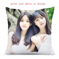 Özel kişiselleştirilmiş fotoğraf veya tasarım veya logo yastık kılıfı ile yastık kılıfları desen tasarımı özelleştirilmiş yastık kılıfı perakende sağlamak