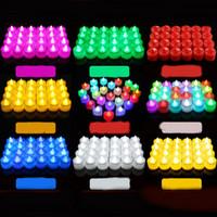 LED Çay Işıklar Mumlar 7 Renk Pil Ömürlü alevsiz Tealight Mum Uzun Düğün için Sahte Mumlar dekorasyon İşletilen değiştirme