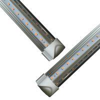Puerta del refrigerador LED Tubo V En forma de 8 pies Luces de 8 pies 5 pies 6 pies de 8 pies LED T8 52W 72W Lámpara fluorescente integrada
