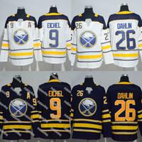 9 Jack Eichel Jersey 26 Rasmus Dahlin 23 Sam Reinhart 90 Ryan O Reilly Jersey  Buffalo Sabres Hockey Jerseys Black White Stitched Jerseys e26fd54e5