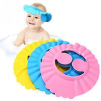 1PCS Soft regolabile Baby Shower Cap proteggere i bambini Kid Shampoo Bath Wash capelli Shield Hat impermeabile Prevenire l'acqua in orecchio libero shi