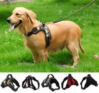 تعديل الكلب تسخير سترة طوق قماش كبير الكلب حبل طوق حزام اليد pet الجر حبل ل كلب كبير