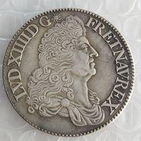 Frankrike 1 ecu - Louis XIV 1686 Kopiera mynt Brass Craft Ornaments Replica Coins Heminredning Tillbehör