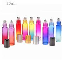 Heiße Rolle 10ML auf leerer kosmetischer Behälter-Farbverlaufs-starke Glasparfümflasche für Reise tragbar