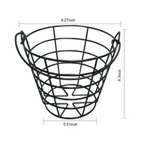 GOLDBALL Metal Golf Basket Golf Ball Container Steel Wire Go...