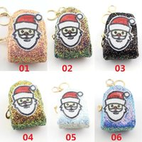 Christmas Santa Claus Design Sequin Coin Purses Girls Ladies Wallets Kids Children Cute Purse Card Holder Christmas Gift
