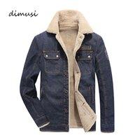 DIMUSI Veste en jean pour homme Stand Col de fourrure mâle hiver épais veste chaude manteaux hommes mode coupe-vent Jeans vestes 4XL, TA112