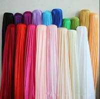 """Fondale in tessuto in tessuto di seta Larghezza 150CM (59 """") Decorazione in tessuto satinato Tinta unita Panno / Performance Abbigliamento Tessuti Fodera per abbigliamento"""