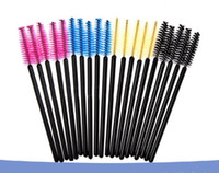 100pcs / lot Jetable Cils Mascara Applicateur Baguette Brosse Maquillage Pinceau Un-off Cils Brosses Brand New 2016 Hot