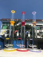 Le vendite calde grandi bong, 18 pollici di colore giallo rosso rig bong nuovo 19 millimetri ciotola dell'acqua pipewith vetro prodotto di fumare il trasporto libero