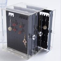 gioielli orecchini Banco di mostra acrilico lucency per orecchini visualizzano caldo di modo libero di trasporto