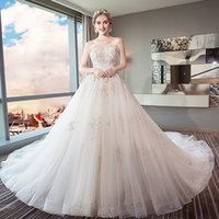 Sexy Strapless Wedding Dresses 2018 Elegant Lace Beading Dre...