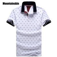 Wholesale- New Brand Polos Mens Printed POLO Shirts 100% Cott...