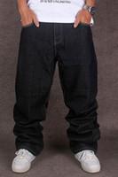 Hip Hop Men 's Baggy Jeans negros Hip Hop Designer Cholyl Brand Pantalones de skate Estilo holgado True Hiphop Rap Jeans Boy