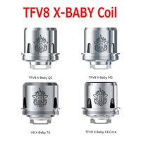Authentic TFV8 X- Baby Coil Head Q2 0. 4ohm M2 0. 25ohm X4 0. 13...