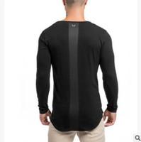 camisa de la venta del nuevo hombres de la marca gimnasia polo del verano sólido camisa de manga larga Slim Fit Hombres camisas ocasionales con M-2XL