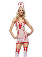 High Quality New Sexy Coser Sexy Women Lingerie Nurse Costum...