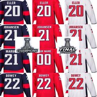 Championnat de la coupe Stanley 2018 Patch final Hommes Washington Capitals Lars Eller Lucas Johansen Dennis Maruk Madison Bowey Maillots de hockey sur mesure