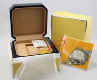 Scatola per orologi Breitling orologi Scatole orologio degli uomini di sicurezza con i certificati di legno della Mens scatola originale della donna.