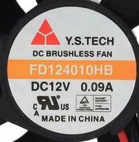 무료 배송 Y.S.TECH FD124010HB DC 12V 0.09A 4CM 40 * 40 * 10mm 듀얼 볼 베어링 냉각 쿨러 팬