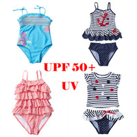UPF 50+ UV Bathing Suits Baby Girls Kids Teenager Swimsuits ...