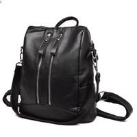 New Arrival. Newest High Quality Women Backpacks Fashion Teenager Girls School  Bag Leather Zipper Students Shoulder Bag Outdoor Hiking Travel Rucksack bbc6d580b5464
