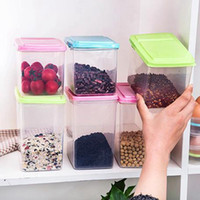 Kitchen Half Flip Food Storage Box Storage Tank Airtight Pla...