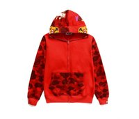 Autumn Winter Fashion Shark High- Letter Embroidery Hoodie Me...