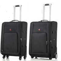 28 inch High capacity Oxford Rolling Luggage Spinner Men Bus...