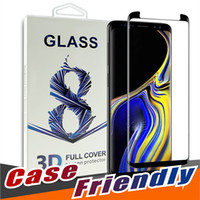 Voor S10 5G Versie Samsung Opmerking 10 S10 S9 S8 Plus S20 Note 9 Volledige Cover 3D Gehard Glass Case Friendly No Hole Version Screen Protector