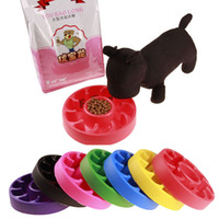 Pet Dog Cat Interativo Slow Food Tigela 1 Pc Anti Slip Gulp Feeder Saudável Bloat Dish Para Pet Ferramentas de alimentação