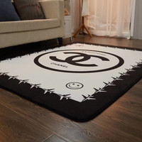 4 Size 6 Style Newest Carpet White X Letter Smiling Face Pri...
