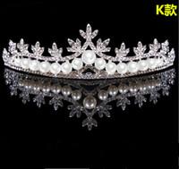 2018 Recién Llegado de Novia de La Boda Tiara Rhinestone Head Pieces Nupcial de Cristal Accesorios para el Cabello Vestidos de Novia
