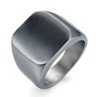 Großhandels-Art und Weisemänner hochpolierter Signet fester Ring 316L Edelstahl Biker Ring für den Schmuck der Männer Männer