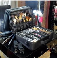 Nuevo Profesional de Alta Calidad Organizador de Maquillaje Vacío Bolso Mujer Estuche de Cosméticos de Viaje de Gran Capacidad de Bolsas de Almacenamiento de Maletas